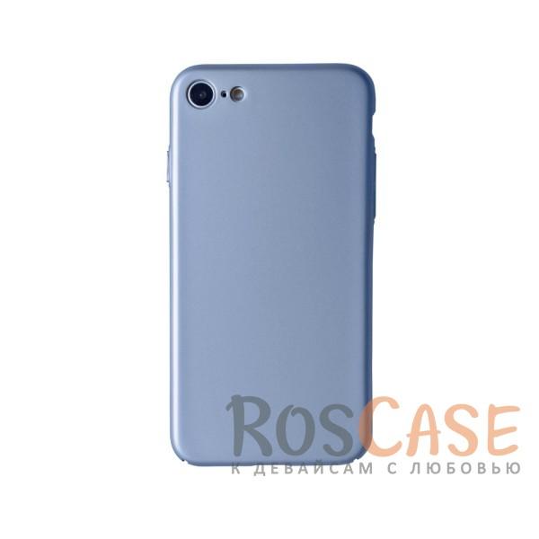 Пластиковая накладка soft-touch с защитой торцов Joyroom для Apple iPhone 7 (4.7) (Серебряный)<br><br>Тип: Чехол<br>Бренд: Epik<br>Материал: Пластик