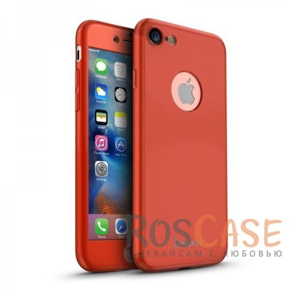 Чехол iPaky 360 градусов для Apple iPhone 7 (4.7) (+ стекло на экран) (Красный)Описание:производитель: iPaky;совместимость: смартфон Apple iPhone7 (4.7);материалы для изготовления: поликарбонат и каленое стекло;форм-фактор: накладка.Особенности:надежная защита: чехол, бампер, стекло;высокий уровень износостойкости и прочности;ультратонкий, не увеличивает визуально объем;легко фиксируется;легко очищается.<br><br>Тип: Чехол<br>Бренд: Epik<br>Материал: Пластик