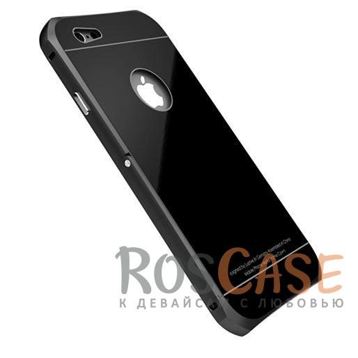Металлический бампер с подставкой Luphie с акриловой вставкой для Apple iPhone 6/6s 4.7 (Черный / Черный)Описание:бренд -&amp;nbsp;Luphie;материал - алюминий, акрил;совместим с Apple iPhone 6/6s 4.7;тип - бампер со вставкой.Особенности:акриловая вставка;прочный алюминиевый бампер;в наличии все вырезы;ультратонкий дизайн;функция подставки;ударопрочный и огнеупорный.<br><br>Тип: Чехол<br>Бренд: Luphie<br>Материал: Металл