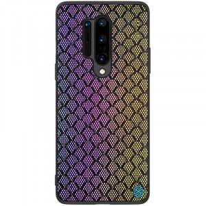 Nillkin Twinkle Rainbow | Чехол с текстурной тканевой вставкой  для OnePlus 8 Pro