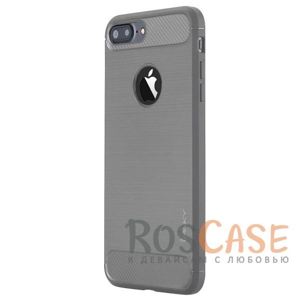 Стильный чехол с карбоновыми вставками iPaky (original) Slim для Apple iPhone 7 plus / 8 plus (5.5) (Серый)Описание:бренд - iPaky;совместим с Apple iPhone 7 plus / 8 plus (5.5);материал: термополиуретан;тип: накладка.Особенности:эластичный;свойство анти-отпечатки;защита углов от ударов;ультратонкий;защита боковых кнопок;надежная фиксация.<br><br>Тип: Чехол<br>Бренд: iPaky<br>Материал: TPU