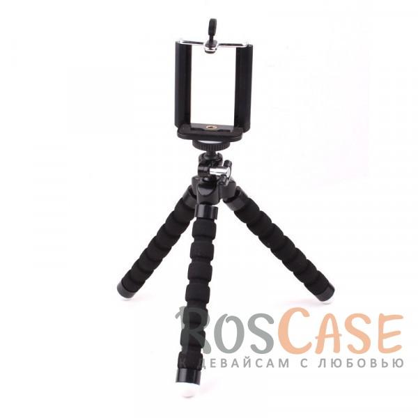 Изображение Черный Гибкий штатив Осьминог для съемки видео с креплением для телефона