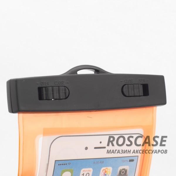 Водонепроницаемый пластиковый чехол для телефона 3.5-5.5 дюйма (Оранжевый)