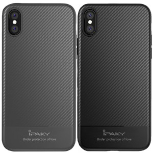 "iPaky Musy | Ультратонкий чехол для Apple iPhone X (5.8"")/XS (5.8"") с карбоновым покрытием"