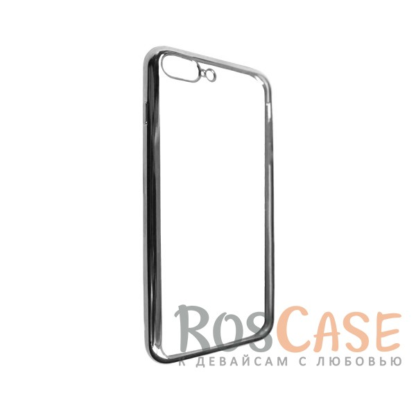 """Изображение Серый Силиконовый чехол для Apple iPhone 7 plus / 8 plus (5.5"""") с глянцевой окантовкой"""