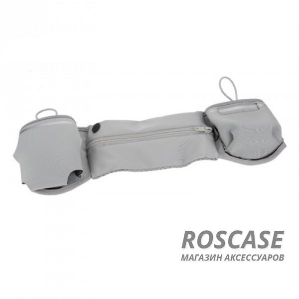 Спортивная сумка на пояс Rock Multifunctional Running (Серый / Grey)Описание:производитель  - &amp;nbsp;Rock;совместимость  -  смартфоны с диагональю&amp;nbsp;до 6-ти дюймов;материал  -  полиэстер;форма  -  сумка на пояс.&amp;nbsp;Особенности:крепится на пояс;эластичная резинка;застегивается на молнию;материал обладает влагоотталкивающими свойствами;разъем для наушников;карман для бутылки;подходит для гаджетов с диагональю до 6-ти дюймов;можно носить в сумке кредитки, ключи и другие мелочи.<br><br>Тип: Чехол<br>Бренд: ROCK<br>Материал: Неопрен