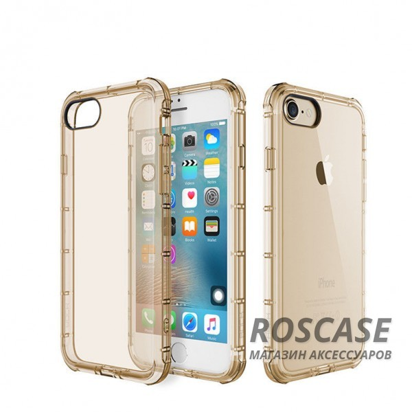 фото Золотой / Transparent Gold TPU чехол ROCK Fence series для Apple iPhone 7 (4.7