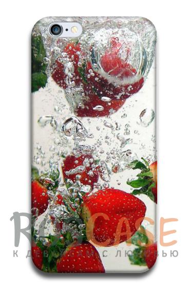 """Фото Клубника со льдом Пластиковый чехол RosCase """"ЛЕТО!"""" для iPhone 6/6s (4.7"""")"""