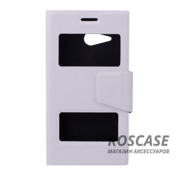 Чехол (книжка) с TPU креплением для Microsoft Lumia 730/735 (Белый)Описание:компания разработчик: Epik;совместимость с устройством модели: Microsoft Lumia 730/735;материал изделия: синтетическая кожа и TPU;конфигурация: обложка в виде книжки.Особенности:высокая износоустойчивость;ТПУ каркас с магнитной застежкой;классическая конструкция;два окна в обложке.<br><br>Тип: Чехол<br>Бренд: Epik<br>Материал: Искусственная кожа