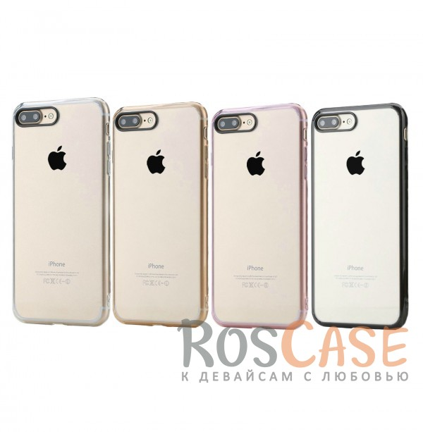 TPU+PC чехол Rock Pure Series для Apple iPhone 7 plus (5.5)Описание:изготовлен компанией&amp;nbsp;Rock;совместим с Apple iPhone 7 plus (5.5);материалы  -  термополиуретан, поликарбонат;тип  -  накладка.&amp;nbsp;Особенности:ультратонкий;в наличии все функциональные вырезы;прозрачная;черная окантовка вокруг камеры для отсутствия блика от вспышки;не скользит в руках;рамка из поликарбоната;защита от царапин и ударов.<br><br>Тип: Чехол<br>Бренд: ROCK<br>Материал: TPU
