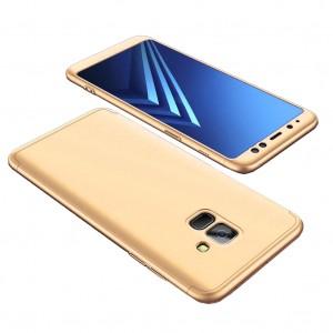 GKK LikGus 360° | Двухсторонний чехол для Samsung A530 Galaxy A8 (2018) с защитными вставками