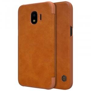 Nillkin Qin натур. кожа | Чехол-книжка для Samsung J250F Galaxy J2 Pro (2018)