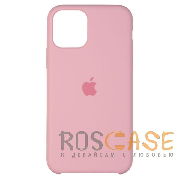 Фото Нежно-розовый Силиконовый чехол Silicone Case с микрофиброй для iPhone 11 Pro