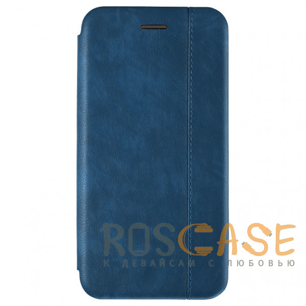 Фото Темно-синий Open Color 2 | Кожаный чехол-книжка для Samsung Galaxy S10 с магнитом и подставкой