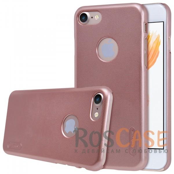 Матовый чехол для Apple iPhone 7 / 8 (4.7) (+ пленка) (Розовый / Rose Gold)Описание:бренд&amp;nbsp;Nillkin;спроектирована для&amp;nbsp;Apple iPhone 7 / 8 (4.7);материал - поликарбонат;тип - накладка.Особенности:фактурная поверхность;защита от ударов и царапин;тонкий дизайн;наличие функциональных вырезов;пленка на экран в комплекте.<br><br>Тип: Чехол<br>Бренд: Nillkin<br>Материал: Поликарбонат