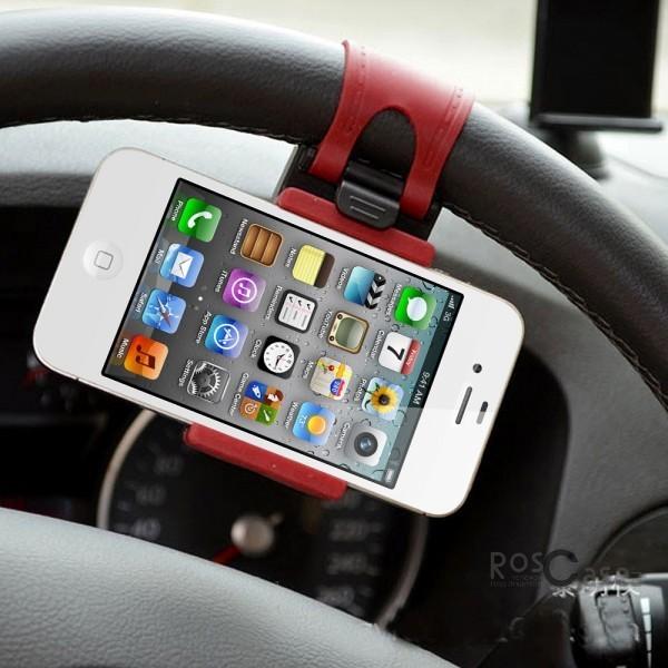 фото универсальный автодержатель для смартфонов на руль