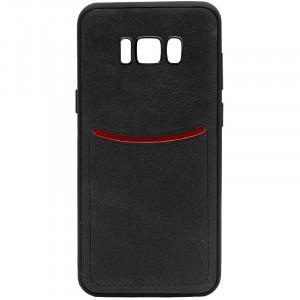 ILEVEL | Чехол с кожаным покрытием и с карманом-визитницей для Samsung G950 Galaxy S8