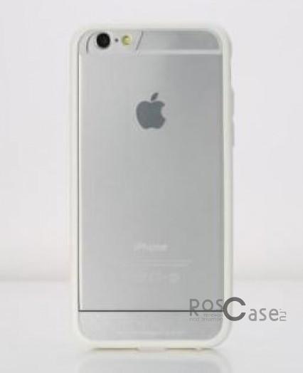 TPU+PC чехол Rock Enchanting Series для Apple iPhone 6/6s plus (5.5) (Белый / White)Описание:компания-производитель  - &amp;nbsp;Rock;разработан специально для&amp;nbsp;Apple iPhone 6/6s plus (5.5);материалы  -  полиуретан, поликарбонат;тип  -  накладка.&amp;nbsp;Особенности:ультратонкий;поликарбонатная окантовка;все функциональные вырезы в наличии;легко очищается;не скользит в руках;защищает от ударов и царапин;не трескается.<br><br>Тип: Чехол<br>Бренд: ROCK<br>Материал: TPU