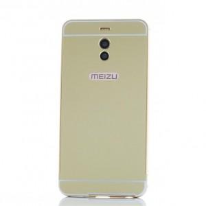 Металлический бампер для Meizu M6 Note с зеркальной вставкой