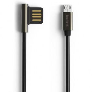Remax Emperor | Дата кабель USB to MicroUSB с угловым штекером USB (100 см) для Meizu Pro 6