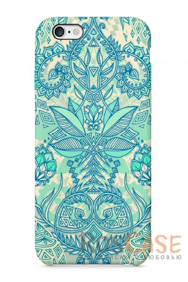 """Фото  Бирюзовый Узор Пластиковый чехол RosCase """"Узоры"""" для iPhone 6/6s (4.7"""")"""