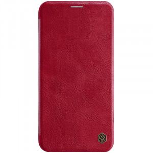 Кожаный чехол (книжка) Nillkin Qin Series для iPhone 11