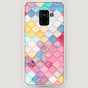 RosCase | Силиконовый чехол Нежные ромбики на Samsung A530 Galaxy A8 (2018)