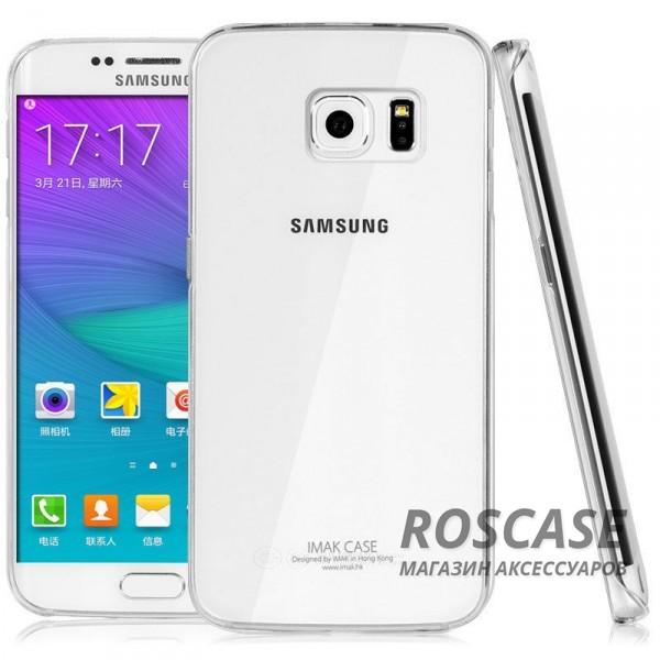 Пластиковая накладка IMAK Crystal Series для Samsung Galaxy S6 Edge Plus (Прозрачный / Transparent)Описание:производство компании IMAK;совместим с телефоном Samsung Galaxy S6 Edge Plus;материал: высокотехнологичный поликарбонат;форма: накладка.Особенности:обеспечивает защиту корпуса телефона от любых повреждений;поверхность глянцевая;амортизация при любом падении и ударе;не утолщает корпус телефона;не выцветает и не желтеет;крепится на заднюю часть телефона;дизайн: ультратонкий, прозрачный.<br><br>Тип: Чехол<br>Бренд: iMak<br>Материал: Поликарбонат