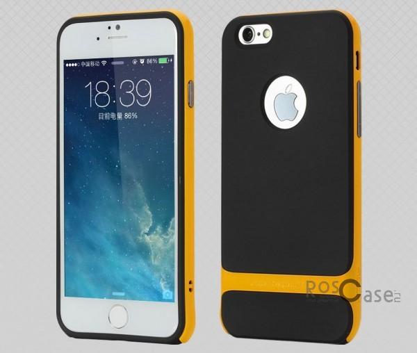 TPU+PC чехол Rock Royce Series для Apple iPhone 6/6s (4.7) (Черный / Оранжевый)Описание:фирма-производитель  -  Rock;совместимость - Apple iPhone 6/6s (4.7);материалы  -  полиуретан, поликарбонат;тип  -  накладка.&amp;nbsp;Особенности:пластичный;имеет все необходимые вырезы;легко чистится;не увеличивает габариты;защищает от ударов и падений;износостойкий.<br><br>Тип: Чехол<br>Бренд: ROCK<br>Материал: TPU