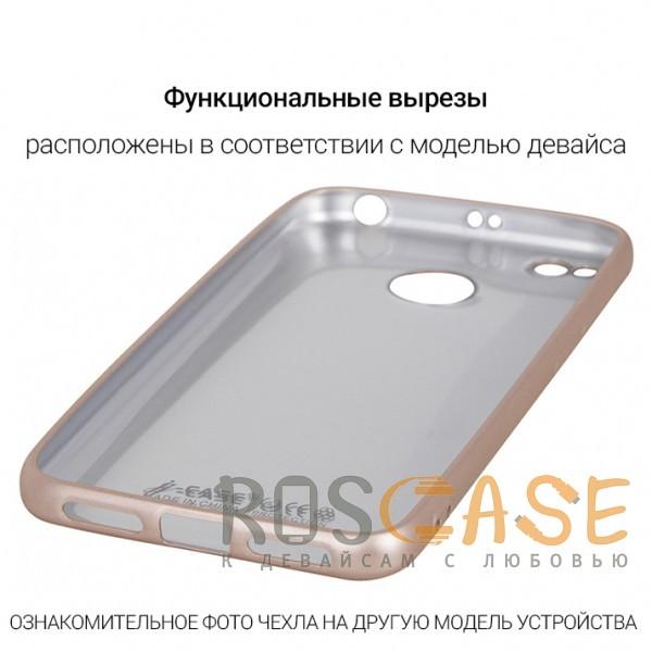 Фотография Золотой J-Case THIN | Гибкий силиконовый чехол для Huawei Y7 Prime