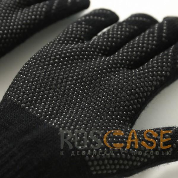 Фото Черный Warm caress | Емкостные перчатки утепленные (нескользящие)