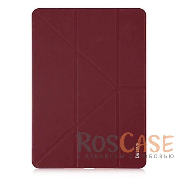 Классический кожаный чехол-подставка Baseus Simplism Y-Type с функцией Sleep mode для Apple iPad 9,7 (2017) (Красный / Wine red)Описание:бренд&amp;nbsp;Baseus;совместим с Apple iPad 9,7 (2017);материал - искусственная кожа;функция подставки с разными углами наклона;защита со всех сторон;функция Sleep mode;фактурная поверхность;покрытие анти-отпечатки;формат - книжка;предусмотрены все вырезы.<br><br>Тип: Чехол<br>Бренд: Baseus<br>Материал: Искусственная кожа