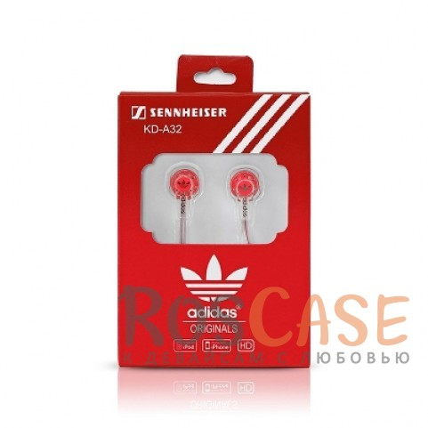 Наушники Adidas стерео (KD-A32) (Красный)Описание:универсальная совместимость;разъем  -  3,5 mini jack;тип  -  вакуумные наушники.&amp;nbsp;Особенности:плоский провод;полное сопротивление: 16 Ом;чувствительность  -  112 Дб;частотный отклик  -  18 - 21 000 Гц;номинальная мощность -3 мВтмаксимальная мощность- 5 мВтдлина кабеля  -  100 см.<br><br>Тип: Наушники/Гарнитуры<br>Бренд: Epik