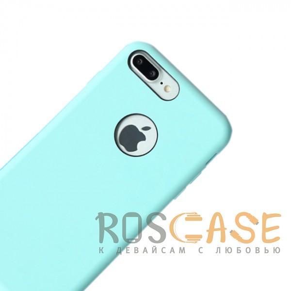 """Фото Голубой / Light Blue Rock Silicon   Ультратонкий чехол для Apple iPhone 7 plus / 8 plus (5.5"""") из силикона"""