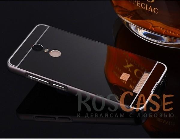 Металлический бампер с акриловой вставкой с зеркальным покрытием для Xiaomi Redmi Note 3 / Pro (Черный)Описание:разработан для Xiaomi Redmi Note 3 / Pro;материалы - металл, акрил;тип - бампер с задней панелью.<br><br>Тип: Чехол<br>Бренд: Epik<br>Материал: Металл