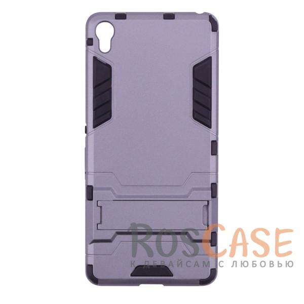 Ударопрочный чехол-подставка Transformer для Sony Xperia XA / XA Dual с мощной защитой корпуса (Металл / Gun Metal)Описание:чехол разработан для Sony Xperia XA / XA Dual;материалы - термополиуретан, поликарбонат;тип - накладка;функция подставки;защита от ударов;прочная конструкция;не скользит в руках.<br><br>Тип: Чехол<br>Бренд: Epik<br>Материал: Поликарбонат