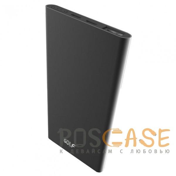 Фото Черный GOLF EDGE5 | Тонкое портативное зарядное устройство Power Bank (5000 mAh) в металлическом корпусе