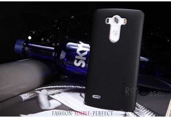 Чехол Nillkin Matte для LG D855/D850/D856 Dual G3 (+ пленка) (Черный)Описание:компания- производитель: Nillkin;совместим с LG D855/D850/D856 Dual G3;используемые материалы: пластик;форма чехла: накладка.&amp;nbsp;Особенности:текстурированная поверхность;надежная фиксация;предусмотрен полный набор функциональных вырезов;не скользит;бонусная пленка для экрана;плотное прилегание;визуально не увеличивает габариты устройства.<br><br>Тип: Чехол<br>Бренд: Nillkin<br>Материал: Поликарбонат