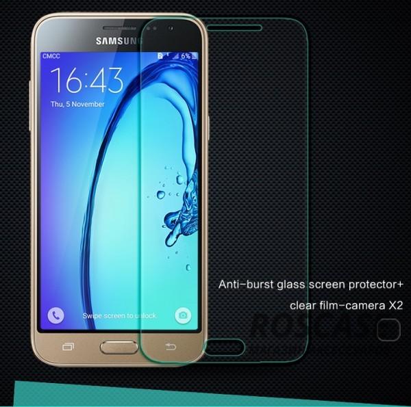 Защитное стекло Nillkin Anti-Explosion Glass (H) для Samsung J320F Galaxy J3 (2016)Описание:компания-производитель:&amp;nbsp;Nillkin;разработано специально для Samsung J320F Galaxy J3 (2016);материал: закаленное стекло;тип: стекло.&amp;nbsp;Особенности:имеются все функциональные вырезы;антибликовое покрытие;твердость 9H;не влияет на чувствительность сенсора;легко очищается;толщина - &amp;nbsp;0,3 мм;анти-отпечатки.<br><br>Тип: Защитное стекло<br>Бренд: Nillkin