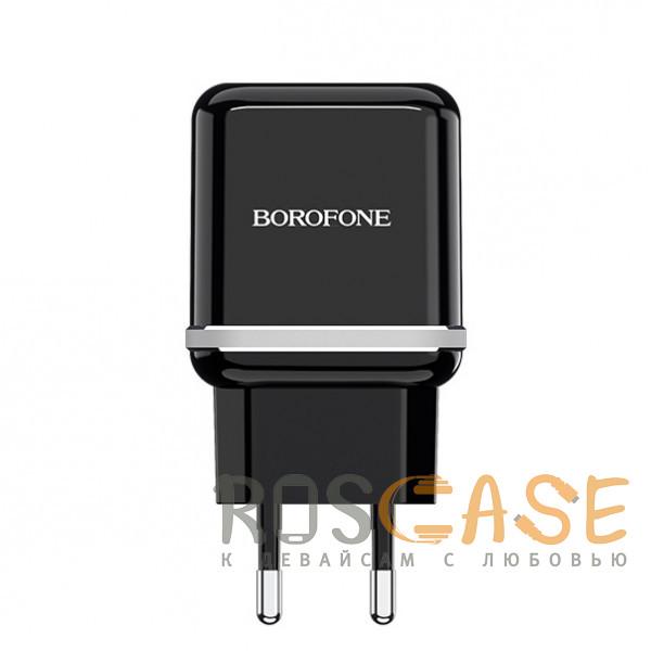 Фото Черный Borofone BA25A | Сетевое зарядное устройство для телефона 2USB / 2.4A