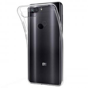 Прозрачный силиконовый чехол  для Xiaomi Mi 8 Lite / Mi 8X