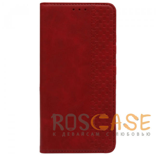 Фотография Красный Business Wallet   Кожаный чехол книжка с визитницей для Samsung Galaxy S21 Plus