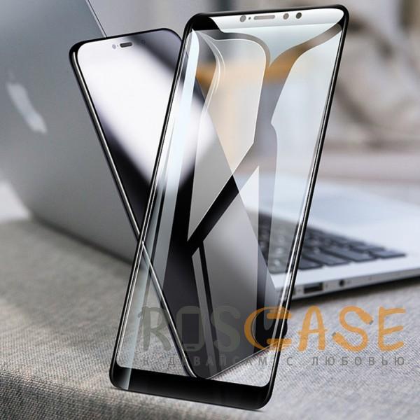 Mocolo (full glue) | Защитное стекло для Xiaomi Mi Max 3 с полной проклейкой на весь экран (Черное)