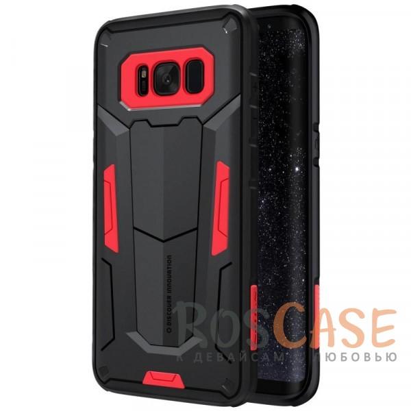 Ударопрочный двухслойный пластиковый чехол для Samsung G950 Galaxy S8 (Красный)Описание:производитель  - &amp;nbsp;Nillkin;чехол разработан для использования с Samsung G950 Galaxy S8;материал  -  термополиуретан, поликарбонат;тип  -  накладка;ударопрочная конструкция;цветные вставки;защита боковых кнопок;предусмотрены все функциональные вырезы.<br><br>Тип: Чехол<br>Бренд: Nillkin<br>Материал: Поликарбонат