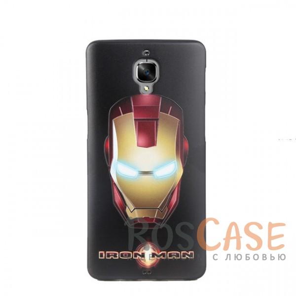 Силиконовая накладка с принтом для OnePlus 3 / OnePlus 3T (Iron Man)<br><br>Тип: Чехол<br>Бренд: Epik<br>Материал: Силикон