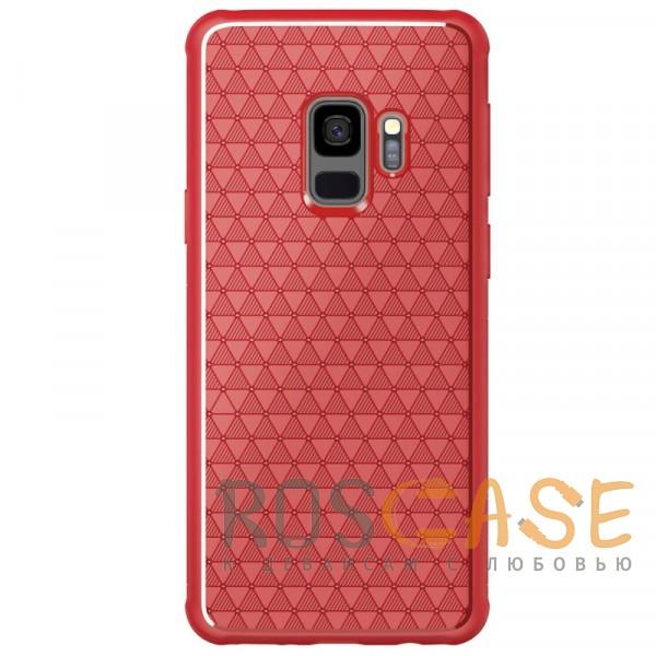 Фото Красный Nillkin Weave | Ультратонкий чехол для Samsung Galaxy S9 с дополнительной защитой углов
