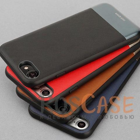 Кожаная накладка с металлической вставкой ROCK Elite Series для Apple iPhone 7 (4.7)Описание:производитель  - &amp;nbsp;Rock;разработан для Apple iPhone 7 (4.7);материал  -  искусственная кожа, металл, поликарбонат;тип  -  накладка.&amp;nbsp;Особенности:металлическая вставка;в наличии все функциональные вырезы;не скользит в руках;амортизирует удары;защищает от механических повреждений.<br><br>Тип: Чехол<br>Бренд: ROCK<br>Материал: Искусственная кожа