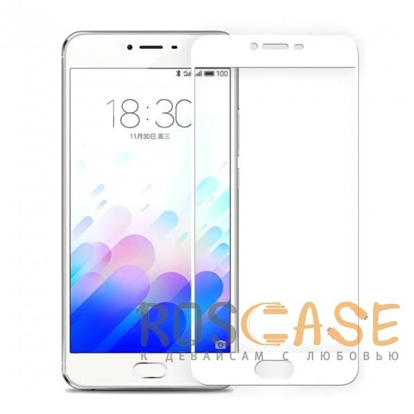 Фото Белый Artis 2.5D   Цветное защитное стекло на весь экран для Meizu U10 на весь экран
