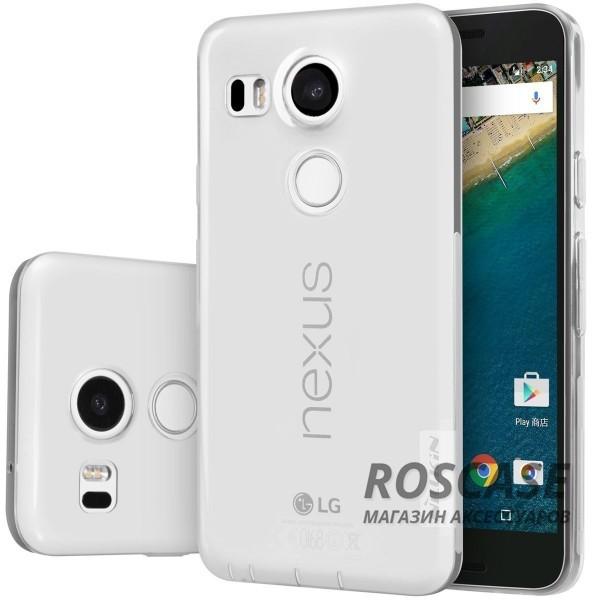 TPU чехол Nillkin Nature Series для LG Google Nexus 5x (Бесцветный / Прозрачный)Описание:производитель  - &amp;nbsp;Nillkin;совместимость: LG Google Nexus 5x;материал  -  термополиуретан;форма  -  накладка.&amp;nbsp;Особенности:в наличии все вырезы;гладкая поверхность;не увеличивает габариты;защита от ударов и царапин;на накладке не видны &amp;laquo;пальчики&amp;raquo;.<br><br>Тип: Чехол<br>Бренд: Nillkin<br>Материал: TPU
