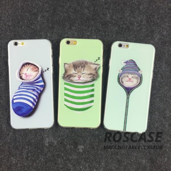 """Фото Тонкий силиконовый чехол с принтом """"Милые котята"""" для Apple iPhone 5/5S/SE"""